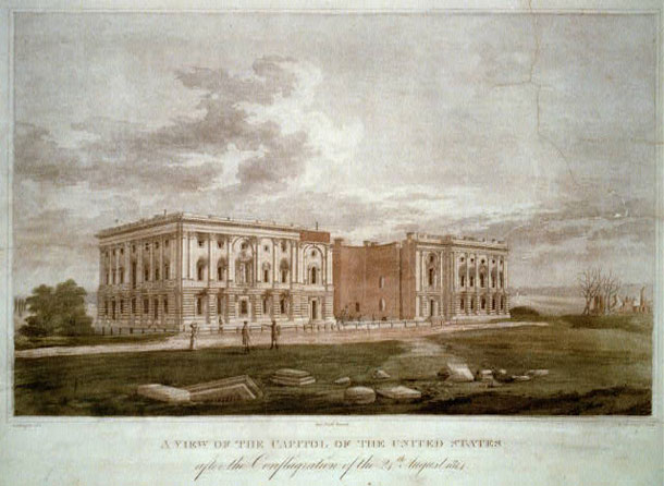 A view of the Capitol after the conflagration of the 24th of August 1814