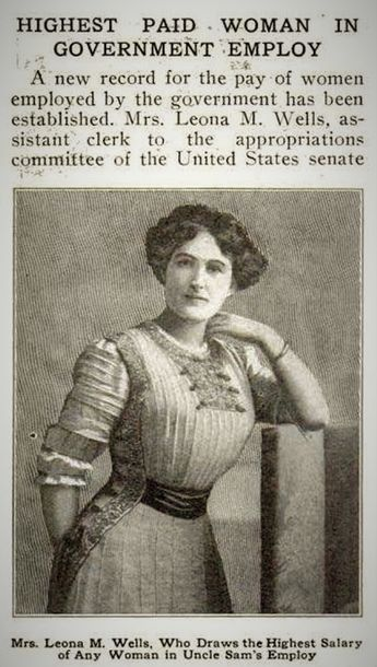 """Highest Paid Woman in Government Employ,""Popular Mechanics, August 1911"