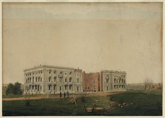 [U.S. Capitol after burning by the British]