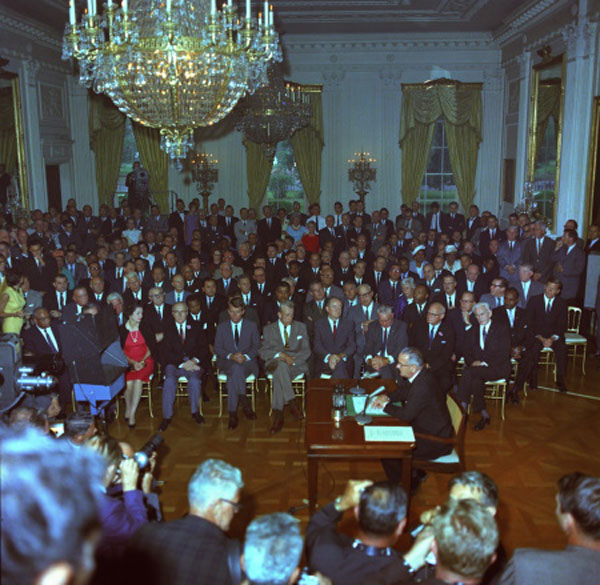 Signing of the Civil Rights Act 1964
