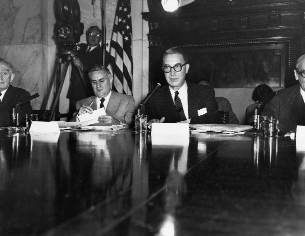 Senate Estes Kefauver at Microphone