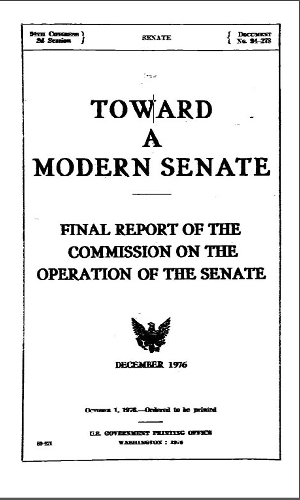 Image: Page 1 of toward a Modern Senate