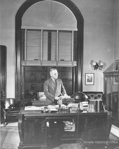 Image:Senator Harry Truman in his Senate Office Building suite.