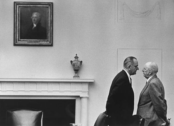 Photograph of Lyndon Johnson and Richard Russell