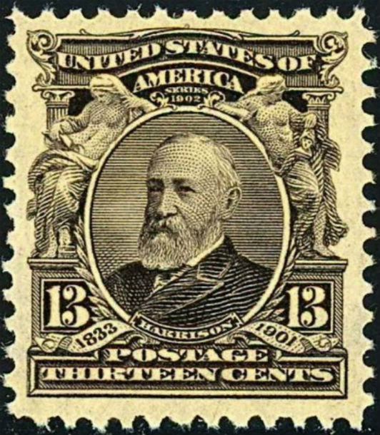 Postage Stamp, Benjmain Harrison, 1903