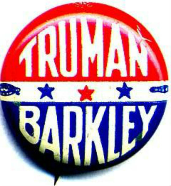 "Campaign button with ""Truman/Barkley"""
