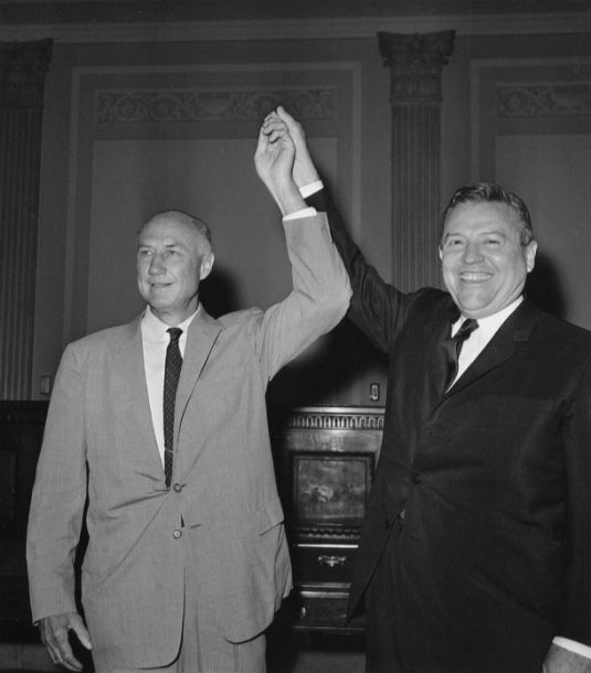 Photograph of Strom Thurmond and Ralph Yarborough