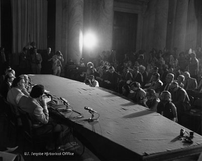 Watergate committee press conference.
