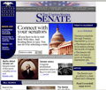 The homepage of the Senate website as it appeared in 1999