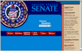 The homepage of the Senate website as it appeared in 2002