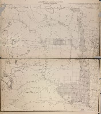 Map of the Dakota Territory
