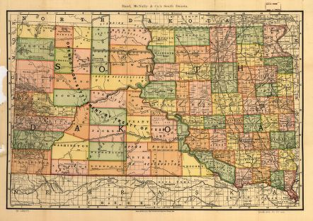 Map of South Dakota, 1892