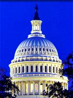 US Capital Dome At Night